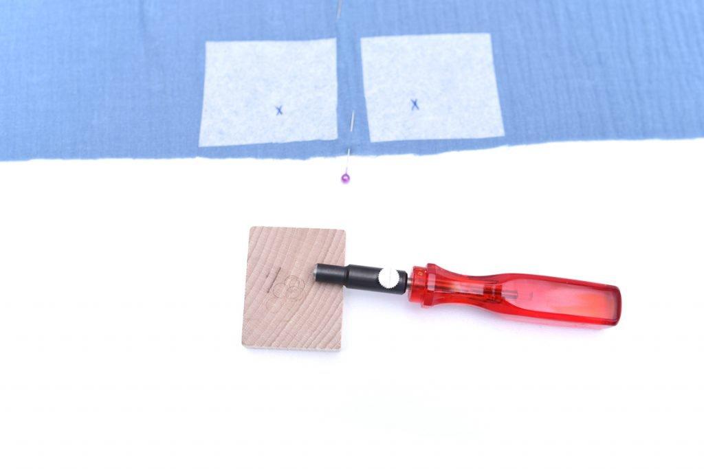 Musselin nähen - Freebook Sommerhose mit Lochstick