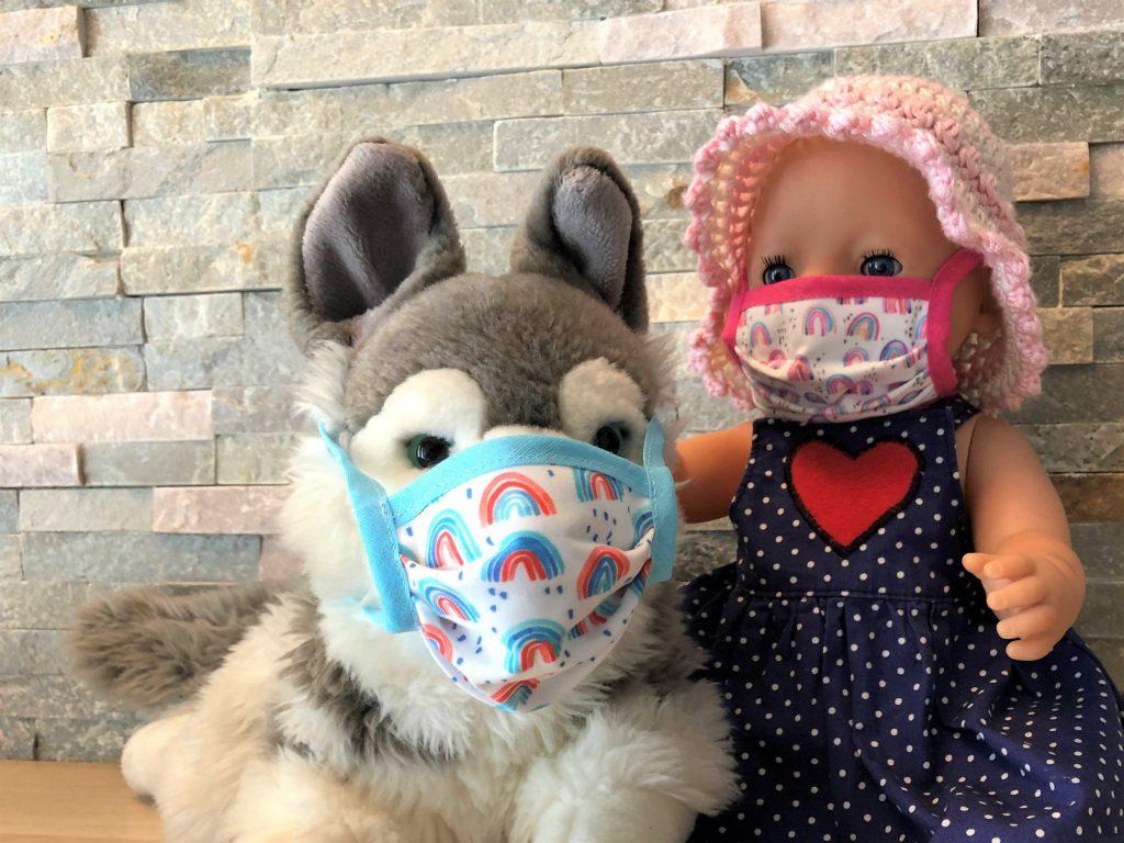Maske nähen für Kinder
