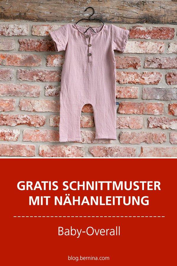 Gratis-Schnittmuster & Nähanleitung: Baby-Overall