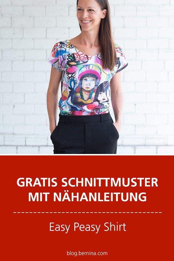 Gratis-Schnittmuster & Nähanleitung: Shirt