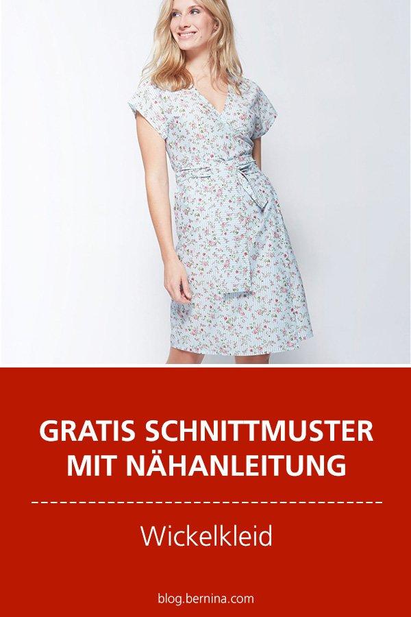 Gratis-Schnittmuster & Nähanleitung: Wickelkleid