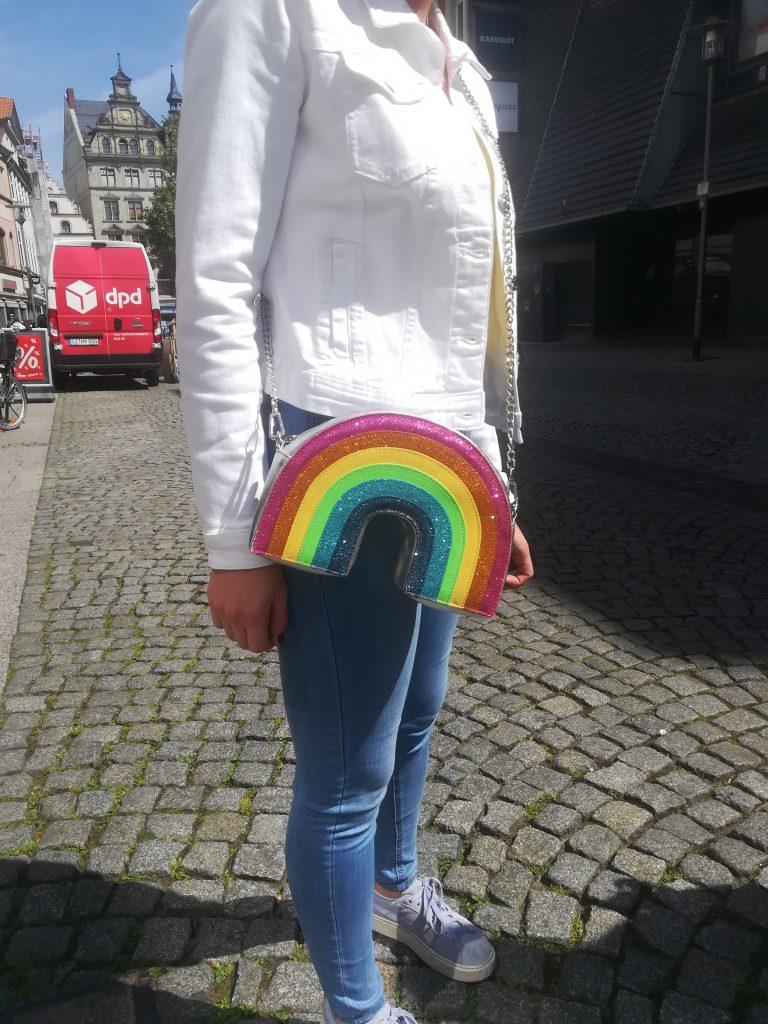 Regenbogen-Handtasche