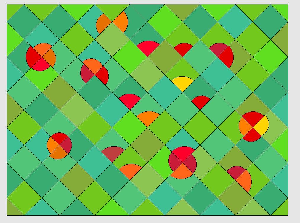 Nähanleitung für einen Quilt mit Mohnblumen