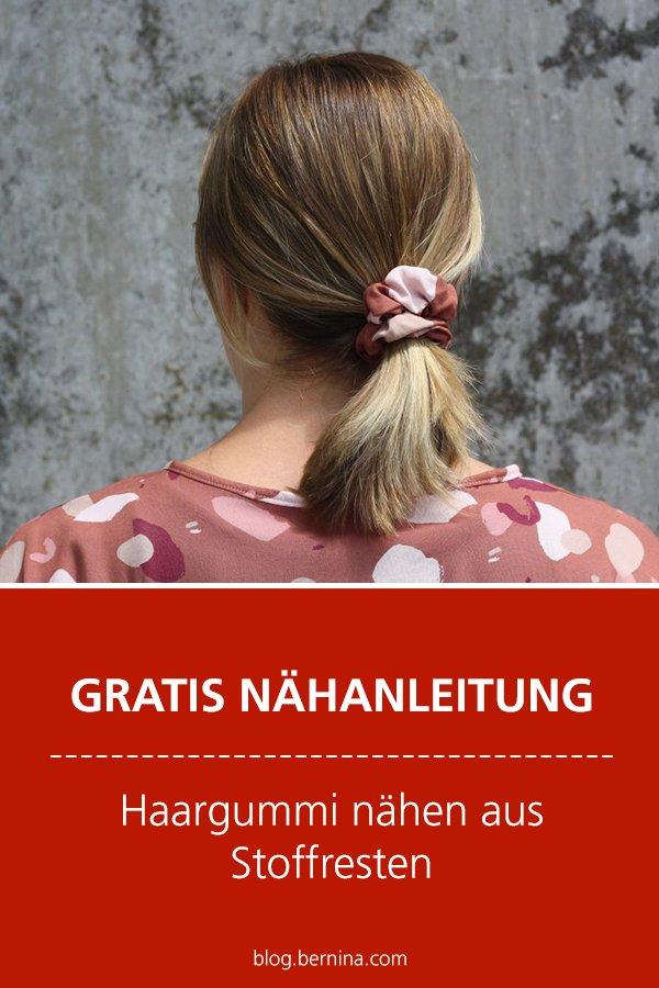 Kostenlose Nähanleitung: Haargummi nähen aus Stoffresten