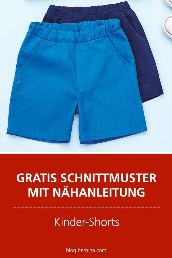 Gratis-Schnittmuster & Nähanleitung: Kinder-Shorts