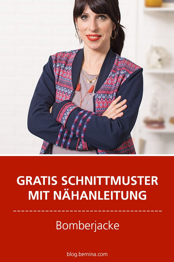 Gratis-Schnittmuster & Nähanleitung: Bomberjacke
