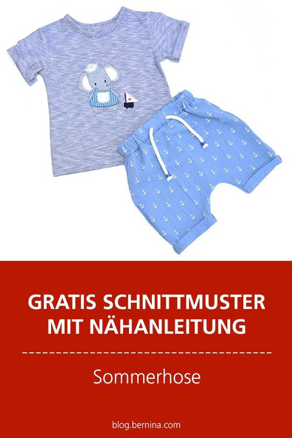 Gratis-Schnittmuster & Nähanleitung: Sommerhose / Shorts