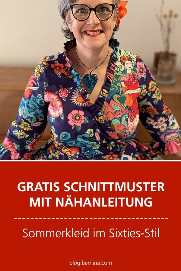 Gratis-Schnittmuster & Nähanleitung: Sommerkleid im Sixties-Stil