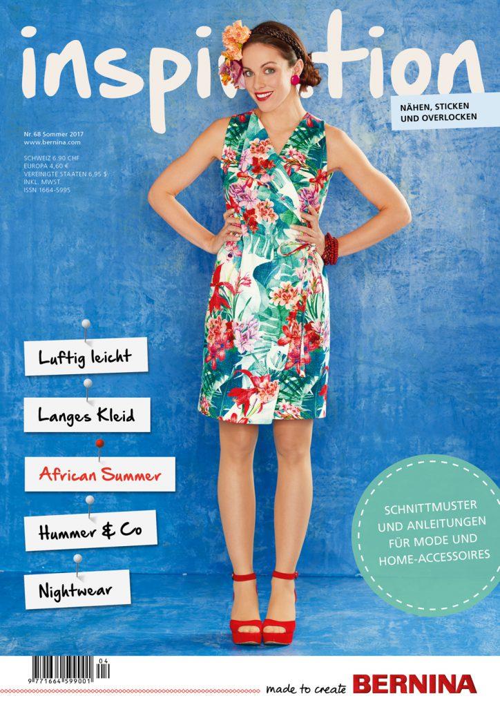 BERNINA inspiration Magazin Ausgabe Nr. 68 Titelseite