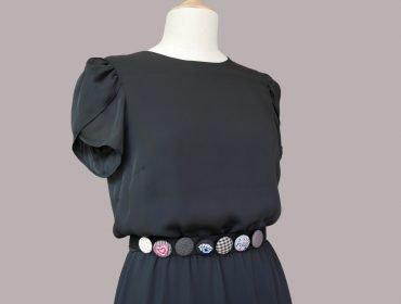 Sommerkleid mit Knopf-Designs