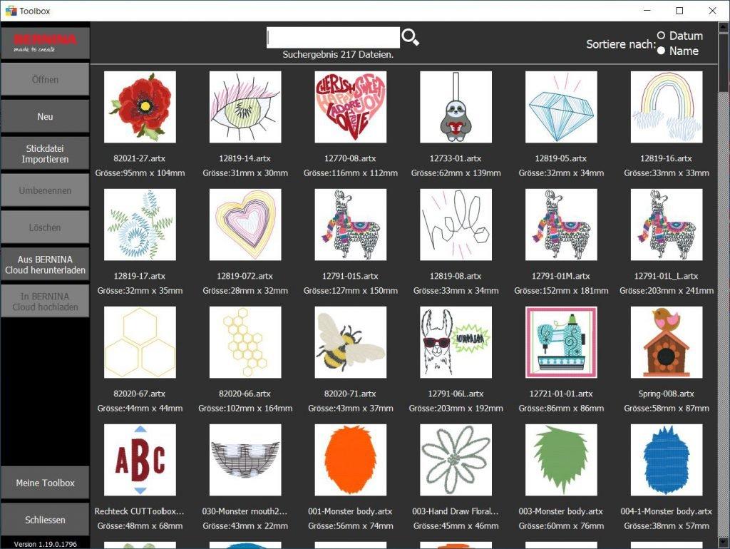 Toolbox Start-Screen nach Download