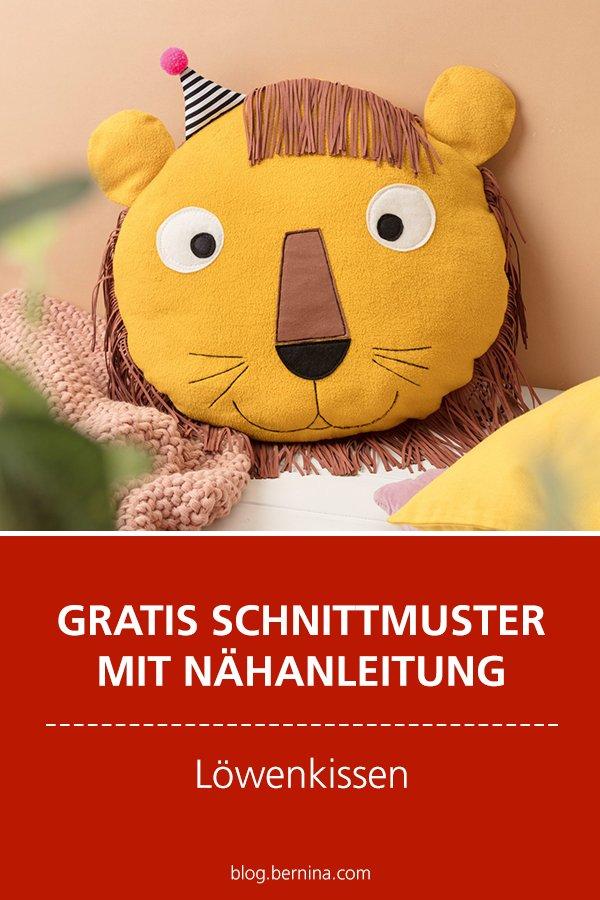 Gratis-Schnittmuster & Nähanleitung: Löwen-Kissen