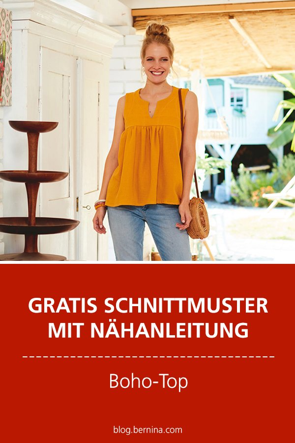 Gratis-Schnittmuster & Nähanleitung: Boho-Top