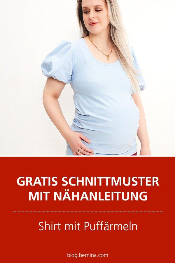 Gratis-Schnittmuster & Nähanleitung: Shirt mit Puffärmeln