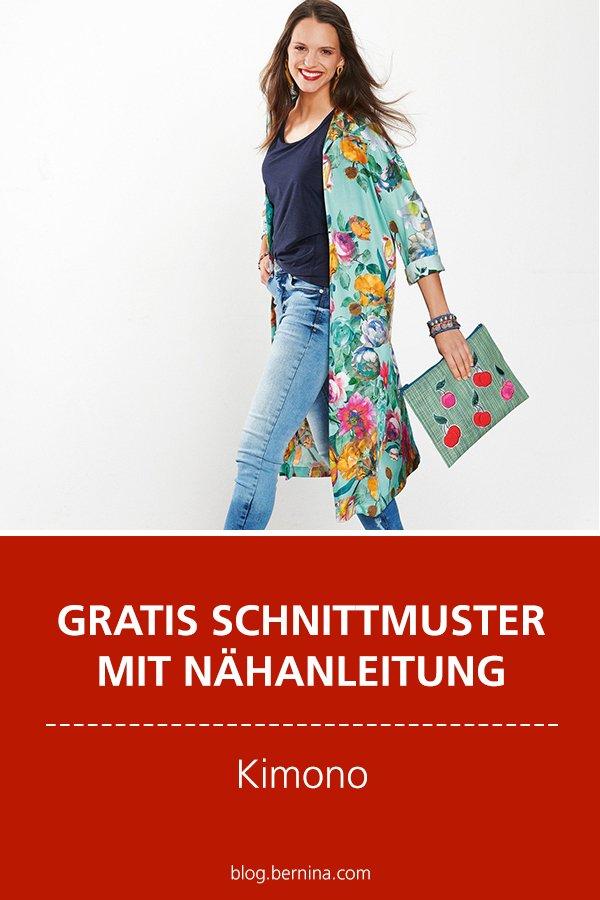 Gratis-Schnittmuster & Nähanleitung: Kimono