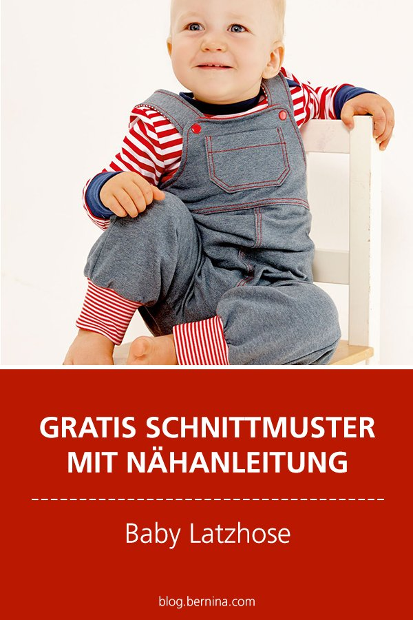 Gratis-Schnittmuster & Nähanleitung: Baby Latzhose