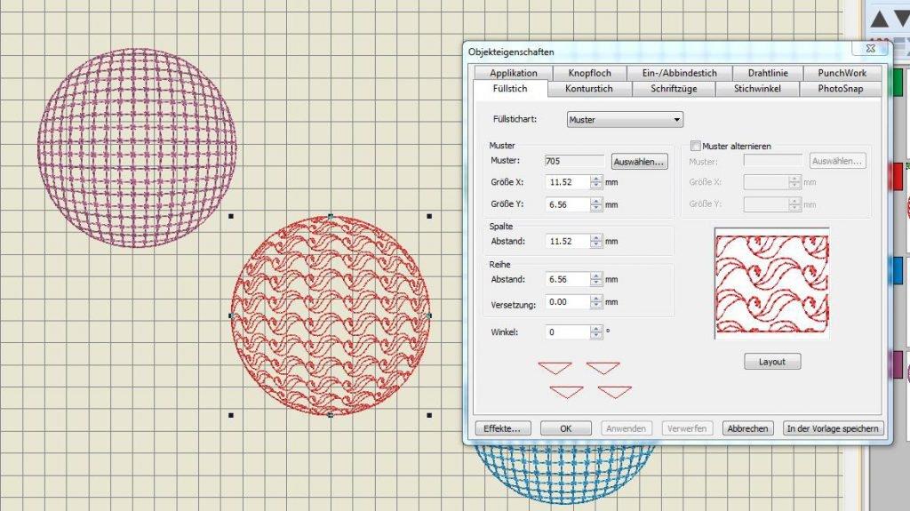 3D Kugeln zum Digitalisieren mit fertiger kostenloser Stickdatei