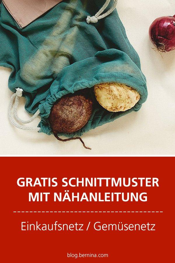 Gratis-Schnittmuster & Nähanleitung: Einkaufsnetz / Gemüsenetz