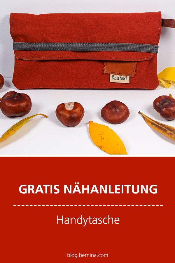 Gratis-Schnittmuster & Nähanleitung: Handytasche nähen / Smartphone-Tasche
