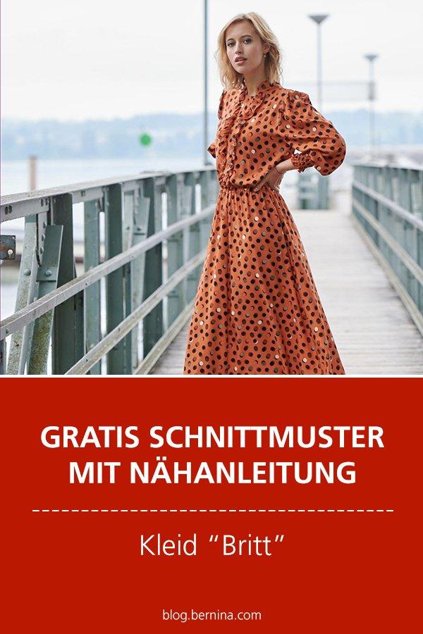 "Gratis-Schnittmuster & Nähanleitung: Kleid ""Britt"" #nähen"