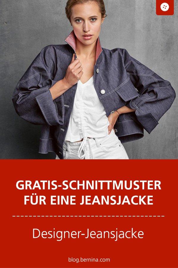 Gratis-Schnittmuster & Nähanleitung: Jeansjacke für Frauen