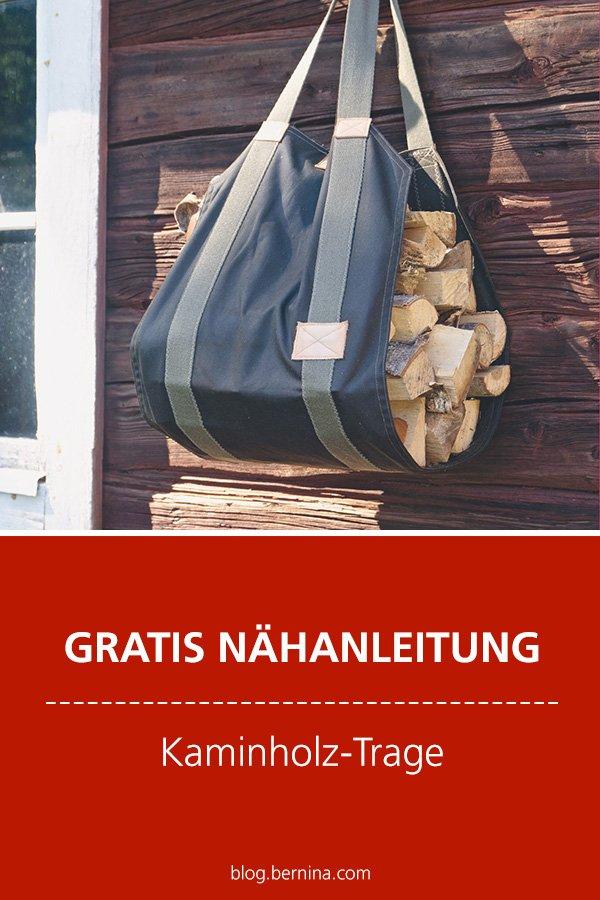 Kostenlose Nähanleitung: Kaminholz-Trage