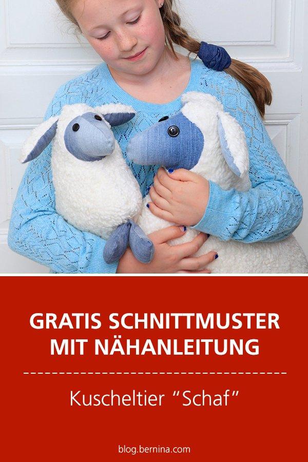 Gratis-Schnittmuster & Nähanleitung: Kuscheltier Schaf