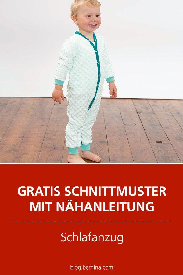 Gratis-Schnittmuster & Nähanleitung: Kinder-Schlafanzug / Overall