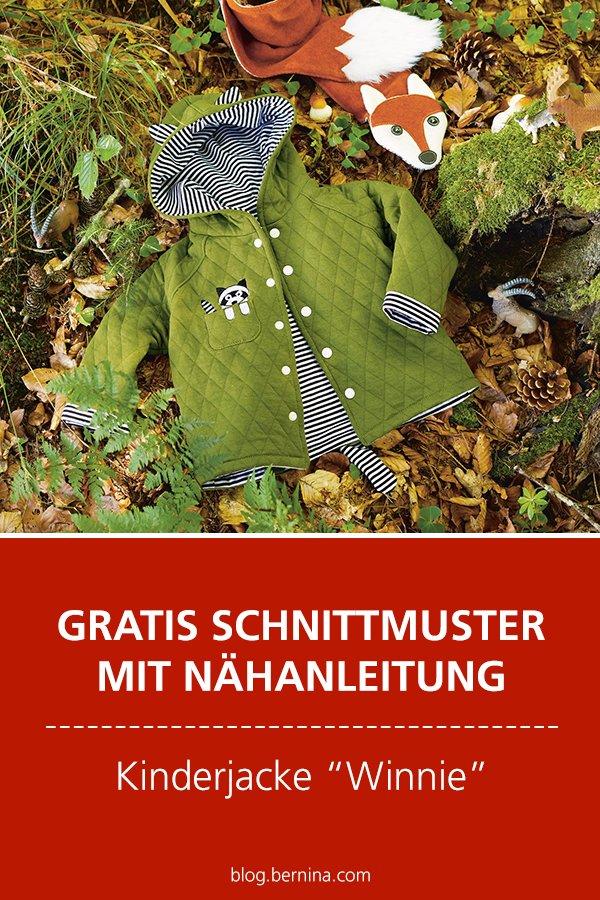 """Gratis-Schnittmuster & Nähanleitung: Kinderjacke """"Winnie"""""""
