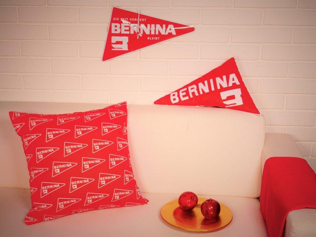 Kissen im Design der BERNINA Uhr