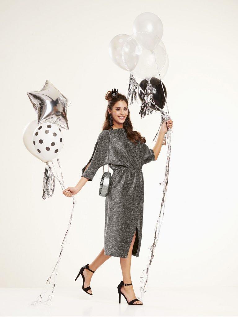 Kleid aus Lurex-Stoff nähen
