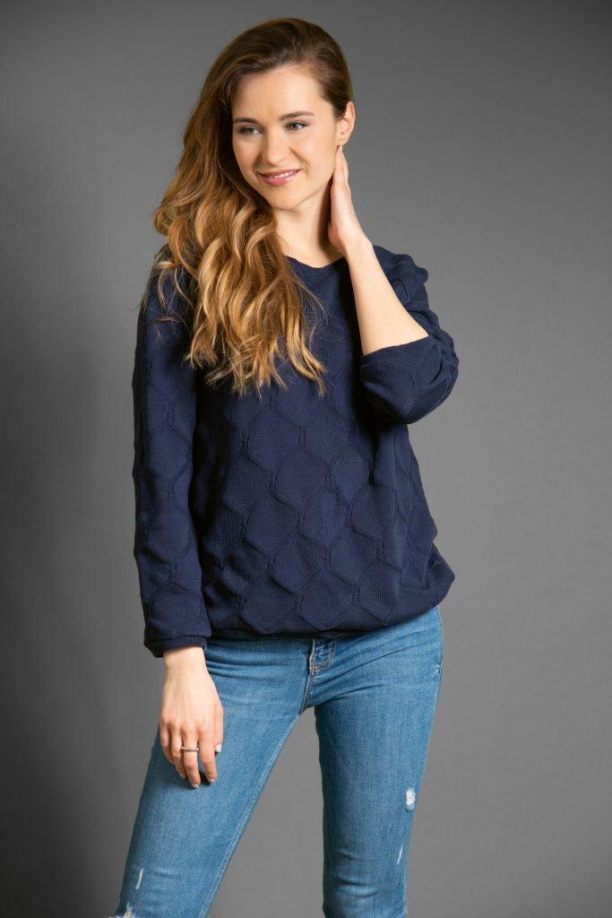 """Pullover nähen aus Strickstoff - Sweater aus dem Buch """"Nähen für Linkshänder"""""""