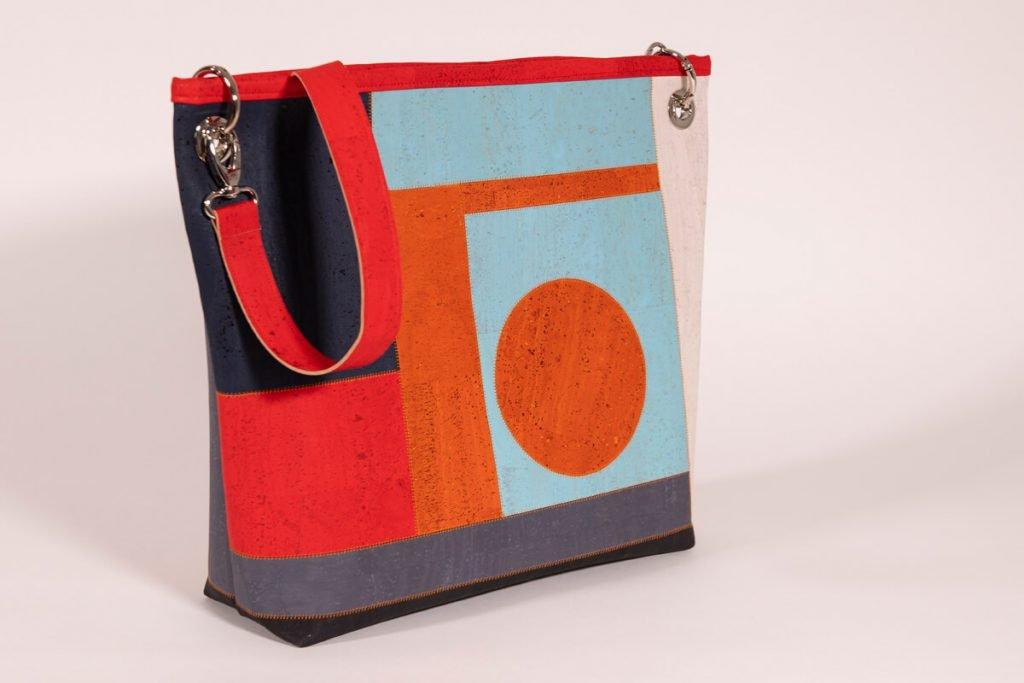Umhängetasche nähen – Handtasche im Color-Blocking-Look
