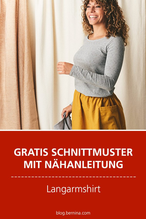 Gratis-Schnittmuster & Nähanleitung: Langarmshirt für Frauen