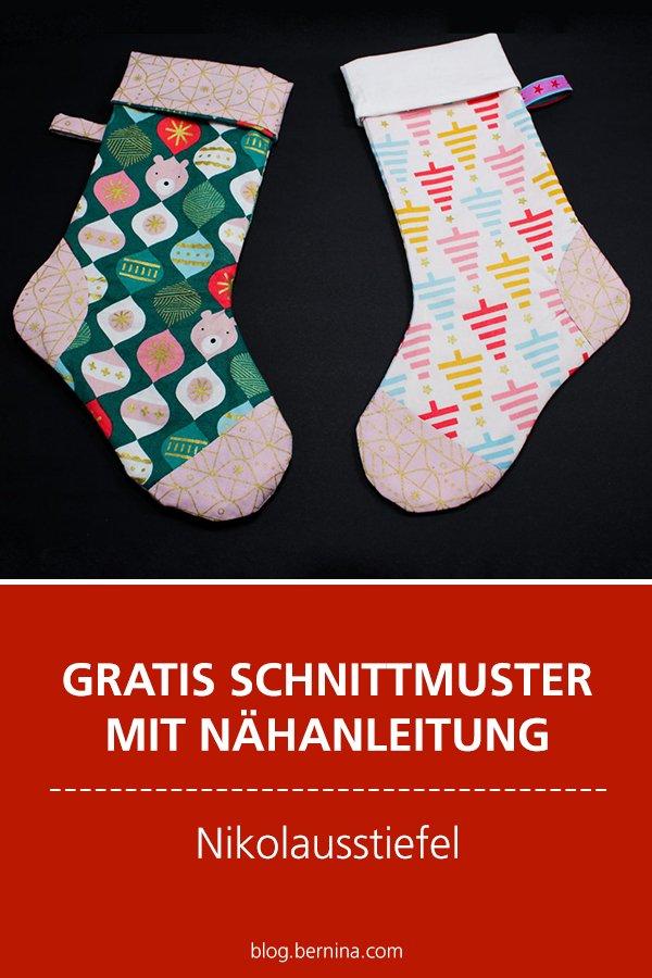 Gratis-Schnittmuster & Nähanleitung: Nikolausstiefel