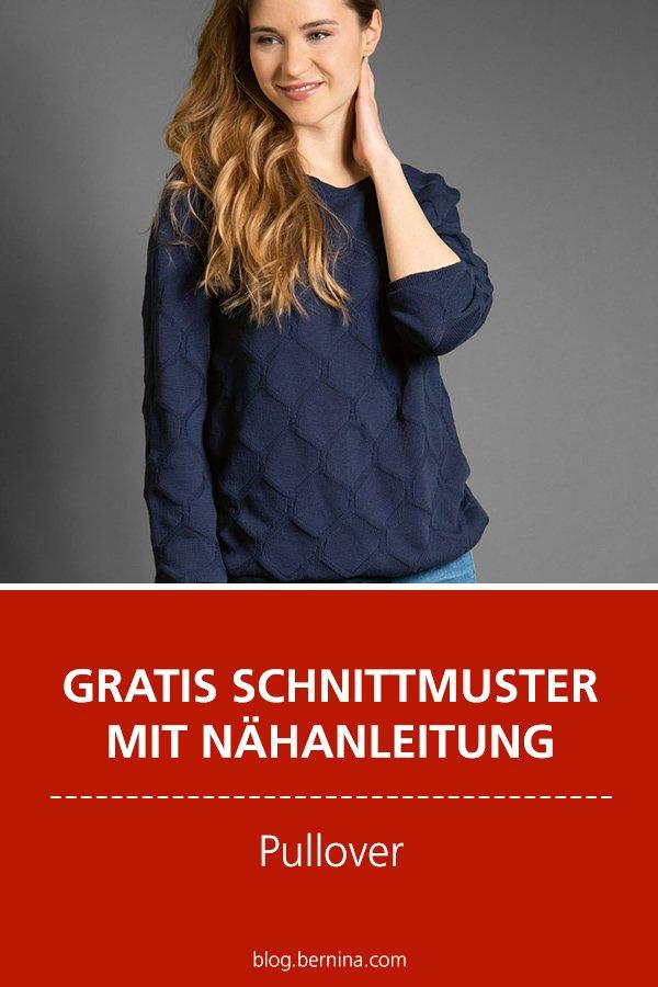Gratis-Schnittmuster & Nähanleitung: Pullover / Sweater für Frauen