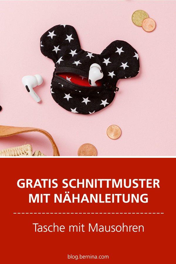 Gratis-Schnittmuster & Nähanleitung: Tasche mit Maus-Ohren