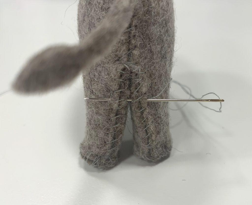 Vilten olifantjes stikken