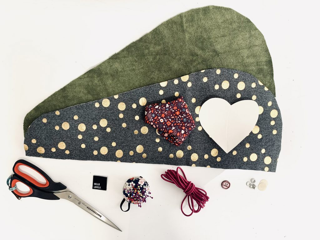 We need this material for the heart appliqué on the hair turban
