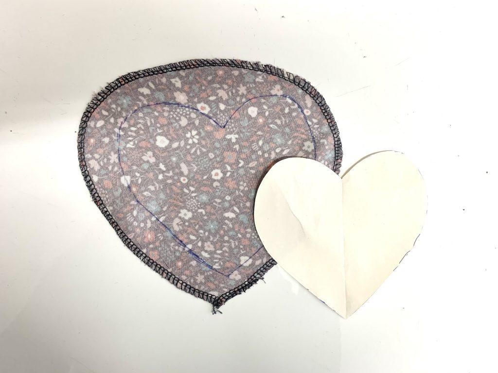 Transferring the appliqué shape onto the fabric