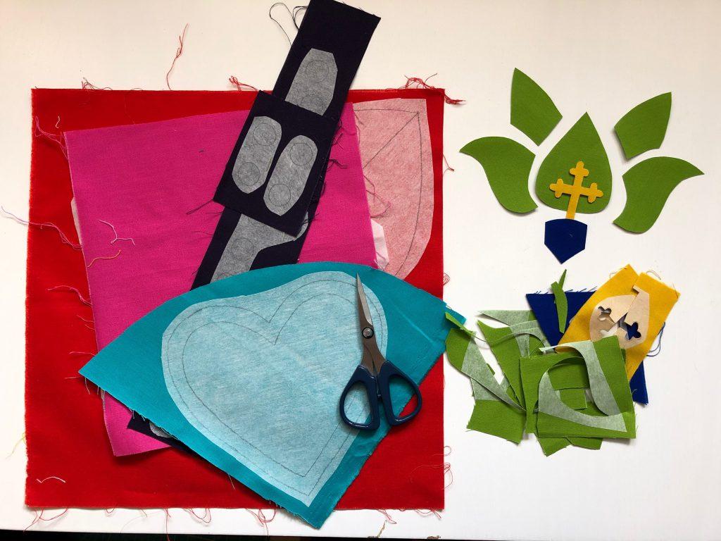 Quiltmanufaktur - Andrea Kollath - BERNINA Advent Calender 2020 - Sacred Heart Cushion