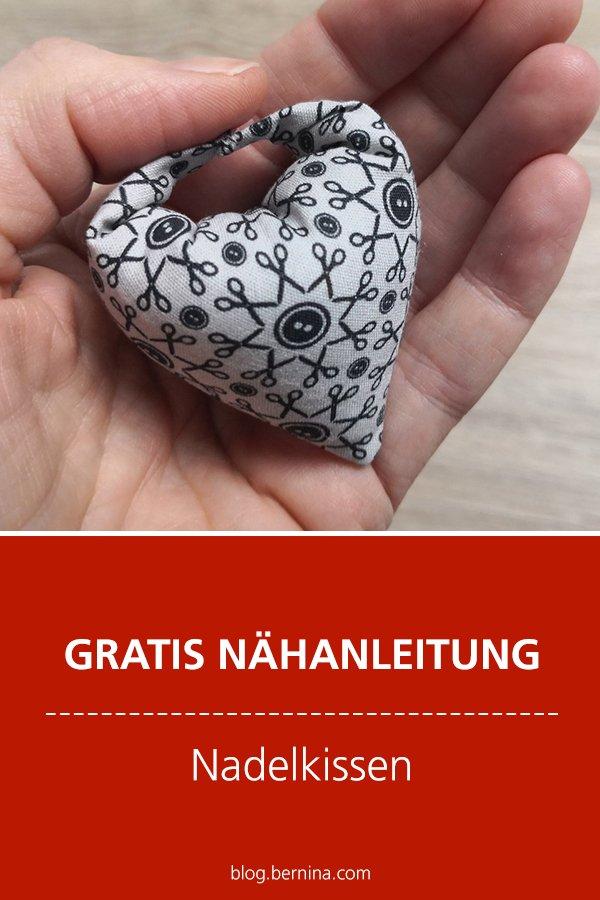Kostenlose Nähanleitung: Nadelkissen