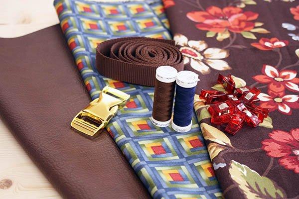 Material für Rolltop Rucksack aus Canvas und Kunstleder