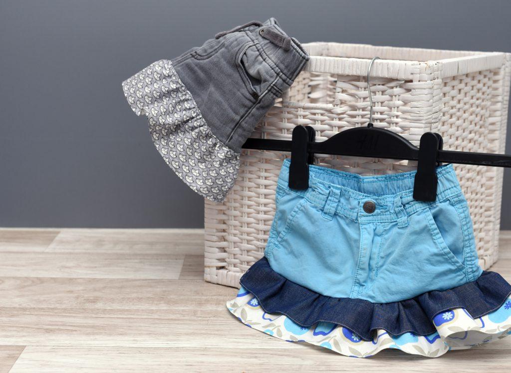 Kinderrock nähen aus alten Jeans als Upcycling-Projekt