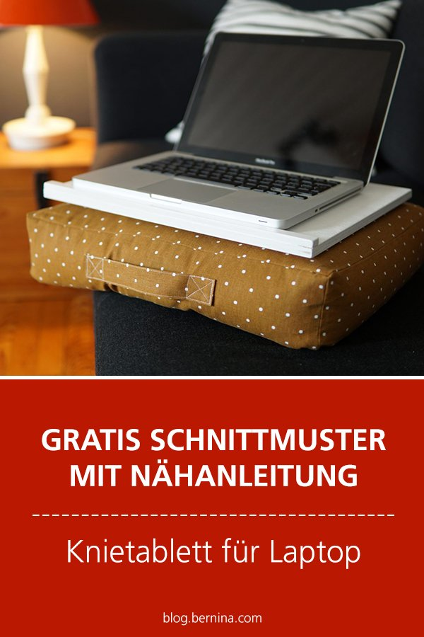 Gratis-Schnittmuster & Nähanleitung: Knietablett für den Laptop