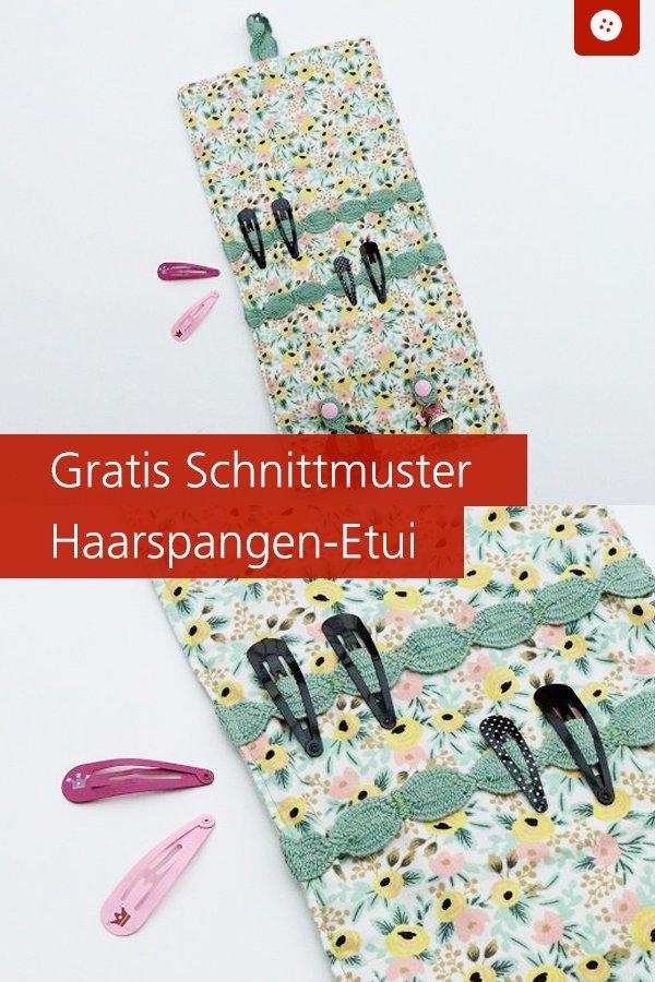Gratis-Schnittmuster & Nähanleitung: Haarspangen-Etui