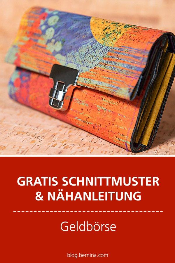 Gratis-Schnittmuster & Nähanleitung: Geldbörse / Portemonnaie
