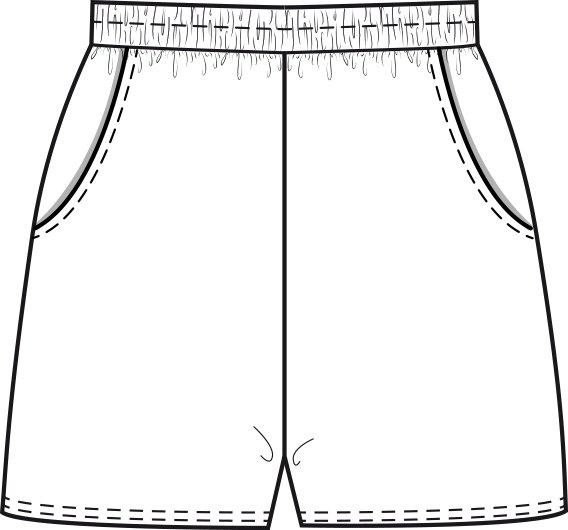 Technische Skizze Schlafanzugshose