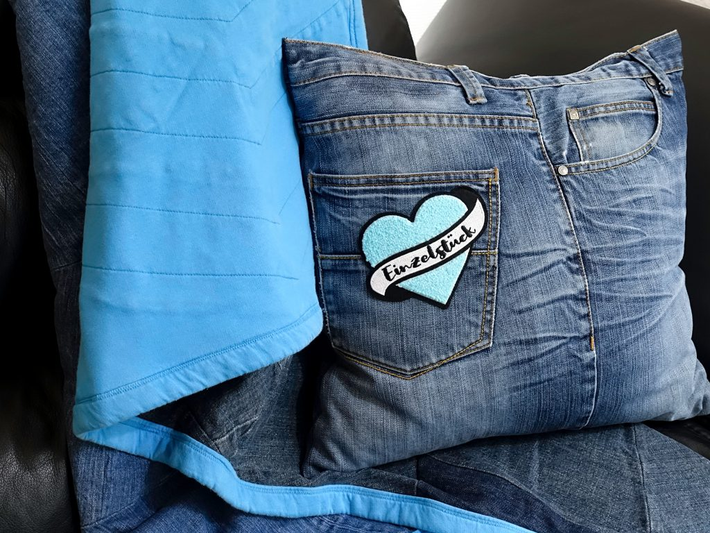 Upcycling Kissen aus Jeans