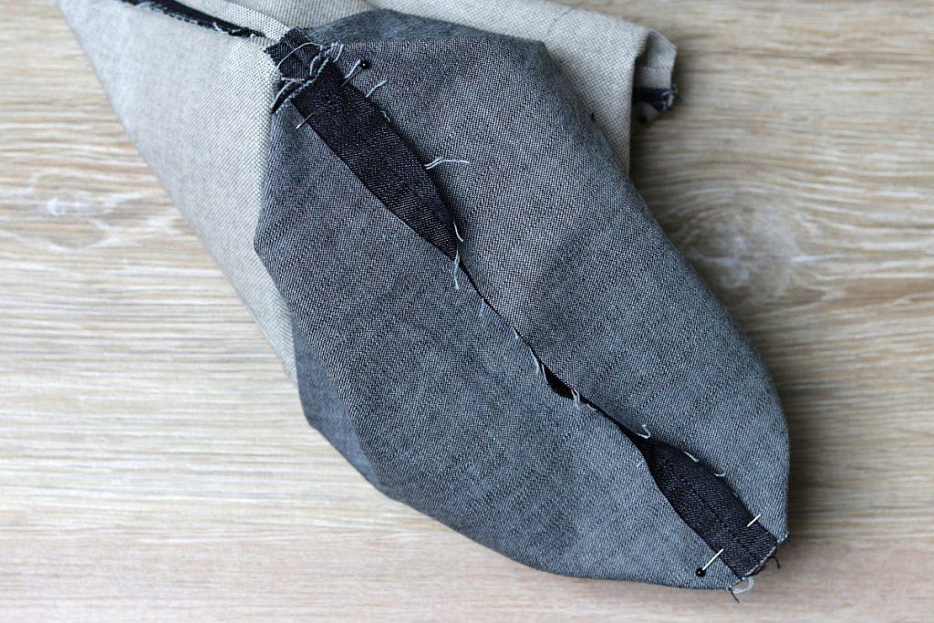 Ecken abnähen Taschenboden